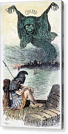 U.s. Cartoon: Cholera, 1883 Acrylic Print by Granger