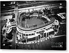 U.s. Cellular Field Aerial Picture In Black And White Acrylic Print by Paul Velgos