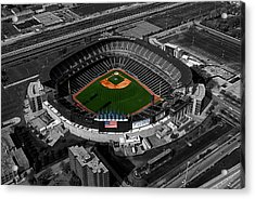 Us Cellular Field Chicago Sports 08 Selective Coloring Digital Art Acrylic Print by Thomas Woolworth
