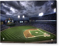 Us Cellular Field Twilight Acrylic Print by Shawn Everhart