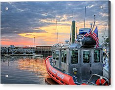 Us Coast Guard Defender Class Boat Acrylic Print