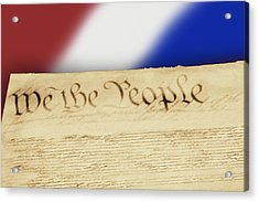 Us Constitution Acrylic Print by Linda Phelps