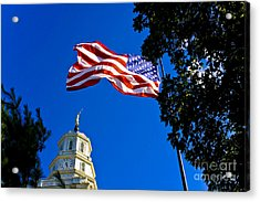 Flag And Moroni Acrylic Print