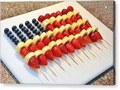American Flag Fruit Kabobs Acrylic Print