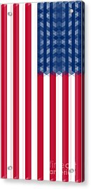 Us  Flag Vertical Acrylic Print by Celestial Images