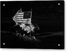 Acrylic Print featuring the photograph U.s. Flag Western by Ron White