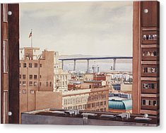Us Grant Hotel In San Diego Acrylic Print by Mary Helmreich