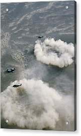 Us Helicopters Landing In Afghanistan Acrylic Print by U.s. Marine Corps