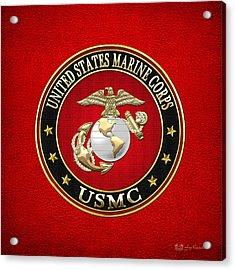 U. S. Marine Corps - U S M C Emblem Special Edition Acrylic Print