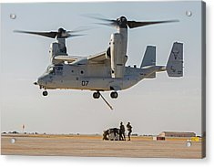Us Marines Deploying From Tiltrotor Aircraft Acrylic Print