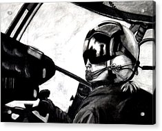 U.s. Marines Helicopter Pilot Acrylic Print