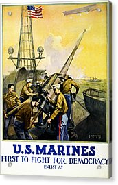 Us Marines Acrylic Print by Leon Alaric Shafer