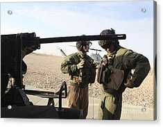 U.s. Marines Prepare For Flight At Camp Acrylic Print by Stocktrek Images