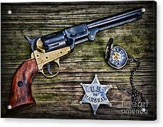 Us Marshall - American Justice - Cowboy Acrylic Print by Paul Ward