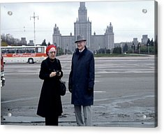 Us Physicists In Moscow Acrylic Print