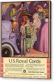 Us Royal Cords 1924 1920s Usa Cc Cars Acrylic Print by The Advertising Archives