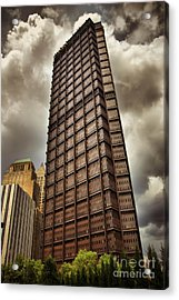 Us Steel Building Pittsburgh Hdr Acrylic Print by Amy Cicconi