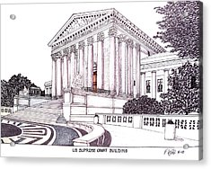 Us Supreme Court Building Acrylic Print by Frederic Kohli
