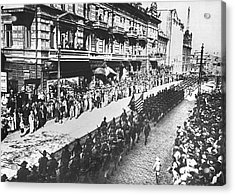 Us Troops In Vladivostok Acrylic Print by Underwood Archives