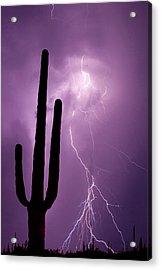 Usa, Arizona Composite Of Saguaro Acrylic Print by Jaynes Gallery