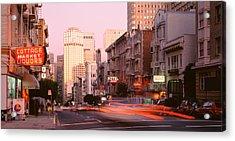 Usa, California, San Francisco, Evening Acrylic Print