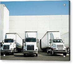 Usa, California, Santa Ana, Trucks And Acrylic Print