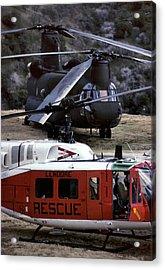 Usa, California, Search And Rescue Acrylic Print