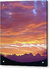 Usa, California, Sunset Over The Sierra Acrylic Print by Jaynes Gallery