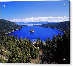 Usa, California, View Of Emerald Bay Acrylic Print by Adam Jones