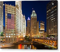 Usa - Chicago Acrylic Print by Jeff Lewis