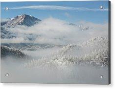 Usa, Colorado Clouds Fill The Valleys Acrylic Print