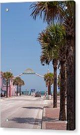 Usa, Florida, New Smyrna Beach, Flagler Acrylic Print by Lisa S. Engelbrecht