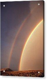 Usa, Idaho, Double Rainbow Acrylic Print