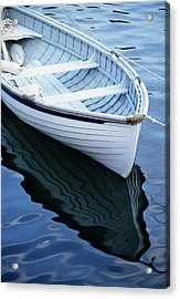 Usa, Maine, Rockport, Dinghy Moored Acrylic Print by Ann Collins