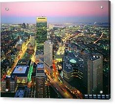 Usa, Massachusetts, Boston, Night View Acrylic Print by Tips Images