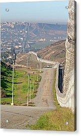 Usa-mexico Border Surveillance Acrylic Print by Jim West