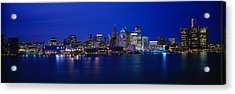 Usa, Michigan, Detroit, Night Acrylic Print