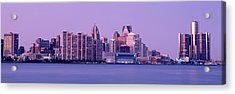 Usa, Michigan, Detroit, Twilight Acrylic Print