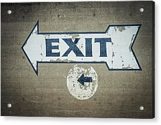 Usa, Mississippi, Exit Sign In Great Acrylic Print by Dosfotos