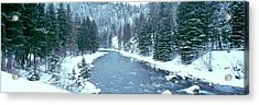 Usa, Montana, Gallatin River, Winter Acrylic Print