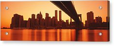 Usa, New York, East River And Brooklyn Acrylic Print by Panoramic Images