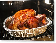 Usa, New York State, Roast Turkey Acrylic Print by Tetra Images