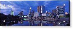 Usa, Ohio, Columbus, Scioto River Acrylic Print by Panoramic Images