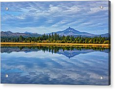 Usa, Oregon Clouds Reflect In Small Acrylic Print