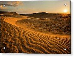 Usa, Oregon, Lake County, Sunrise Over Acrylic Print by Gary Weathers