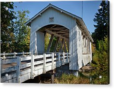 Usa, Oregon, Scio, The Larwood Bridge Acrylic Print