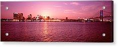 Usa, Pennsylvania, Philadelphia At Dusk Acrylic Print by Panoramic Images