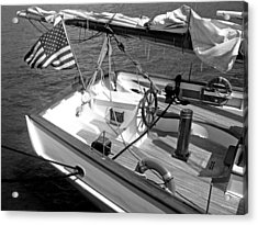 Acrylic Print featuring the photograph Usa Sailboat by Ellen Tully