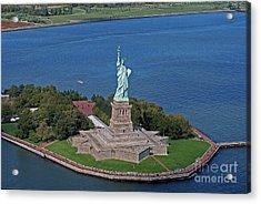Usa Statue Of Liberty Acrylic Print by Lars Ruecker