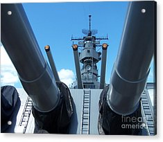 Usa Strength Uss Missouri Acrylic Print